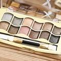 12 Cores Bronzers Shimmer Paleta Da Sombra de Olho Perfeito para Os Olhos Smokey Maquiagem Ferramentas de Beleza Cosméticos com Escova