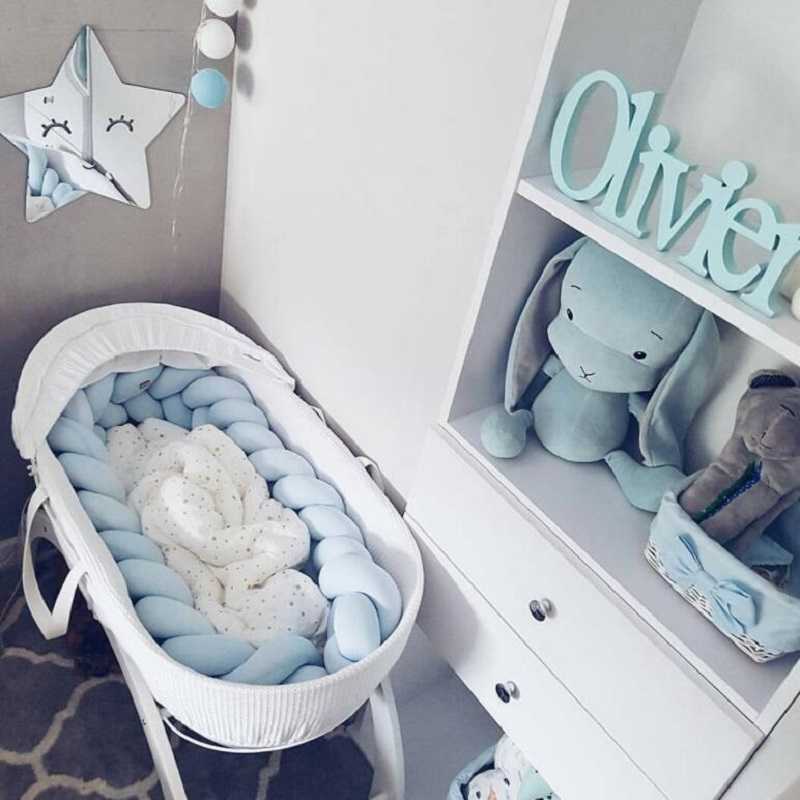 6 Colors Nordic Style Long Knotted Pillow Decorative Pillows Sofa Cushion Home Decor Baby Bed Braid Bumper in the Crib Toys
