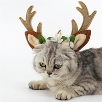 Pet Hair Band Christmas Elk Head Hoop Hair Accessories For Cats Dogs Christmas Decoration For Pets