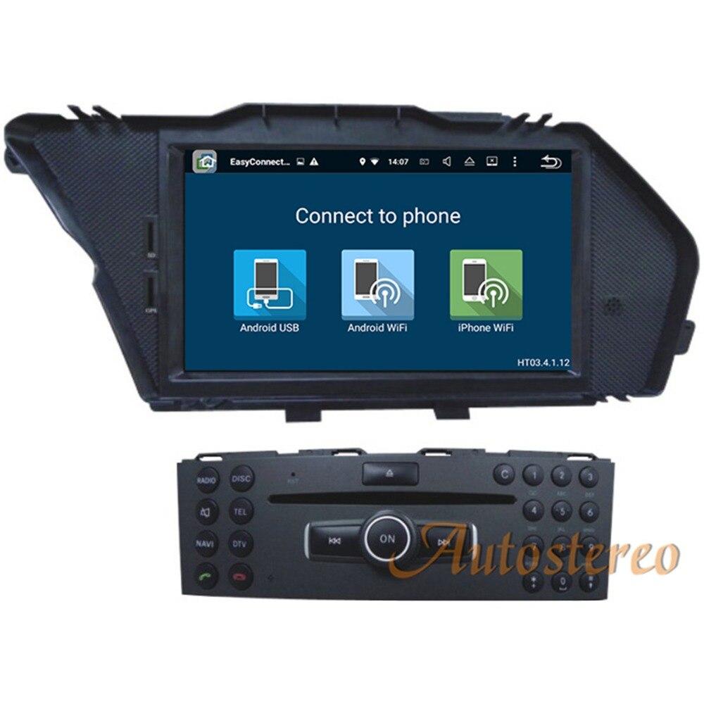 7 inch 4GB RAM 32GB ROM android 8.0 car gps navigation For Mercedes Benz GLK X204 GLK300 GLK350 car DVD player radio multimedia
