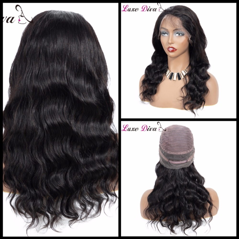 Brazilian Body Wave Hair Wig Lace Front Human Hair Wigs 360 Lace Frontal Wig Short Pre Plucked With Baby Hair Remy LUXE DIVA
