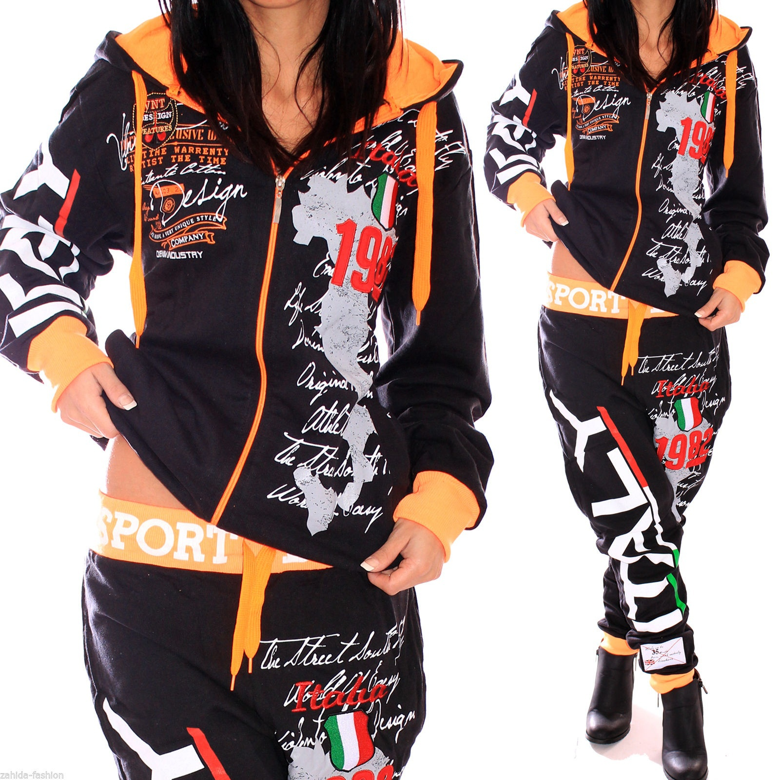 ZOGAA  New women tracksuit Classic print two piece outfits 7 color sweatsuit for sets 2018 plus size S-3XL
