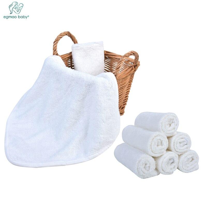 6 pcs/pack 100% bambou nouveau-né bébé serviettes salive serviette serviette d'allaitement bébé infantile Bebe Toalha gant de toilette maillot de bain mouchoir