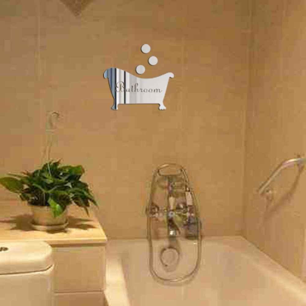 3D Spiegel Aufkleber Lustige Tür Eingang Zeichen kinder Männer Frauen Bad DIY Wand Aufkleber Schlafzimmer Glow Home Decor Wohnzimmer 2019 neue