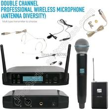 MICWL D220 Dual Channel Stage Performance DJ Karaoke Audio Sound Wireless Microphone System