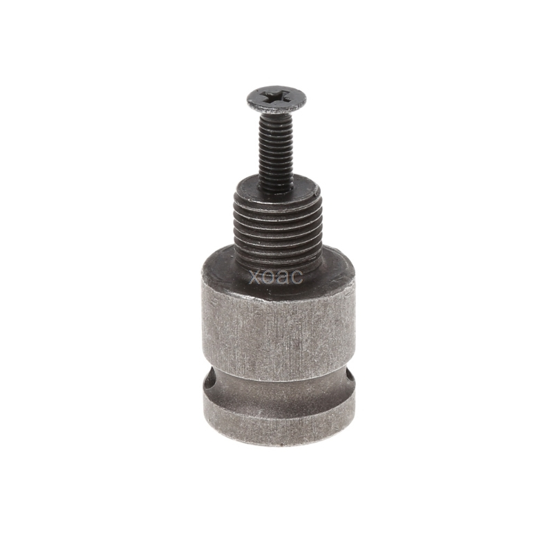1/2'' Drill Chuck Adaptor For Impact Wrench Conversion 1/2-20UNF with 1 Pc Screw M03 dropship hammer drill conversion chuck for bosch gbh2 24 1 2 20unf 2 13mm fast conversion cylinder chuck accessories