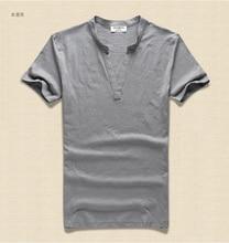 Men t shirt solid Tops Tees Short Sleeve t-shirt Men's brand fashion V neck Cotton Men's T Shirt Paul Shirt  2018 new arrive