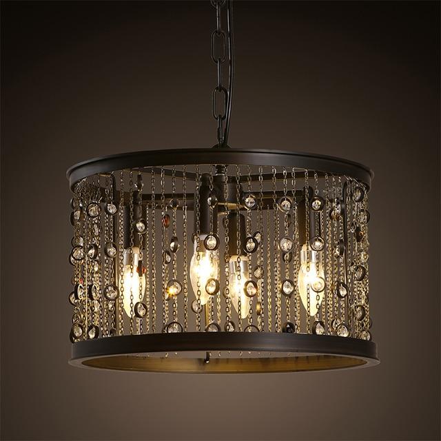 Retro Vintage loft país de América borla lámpara colgante cocina ...