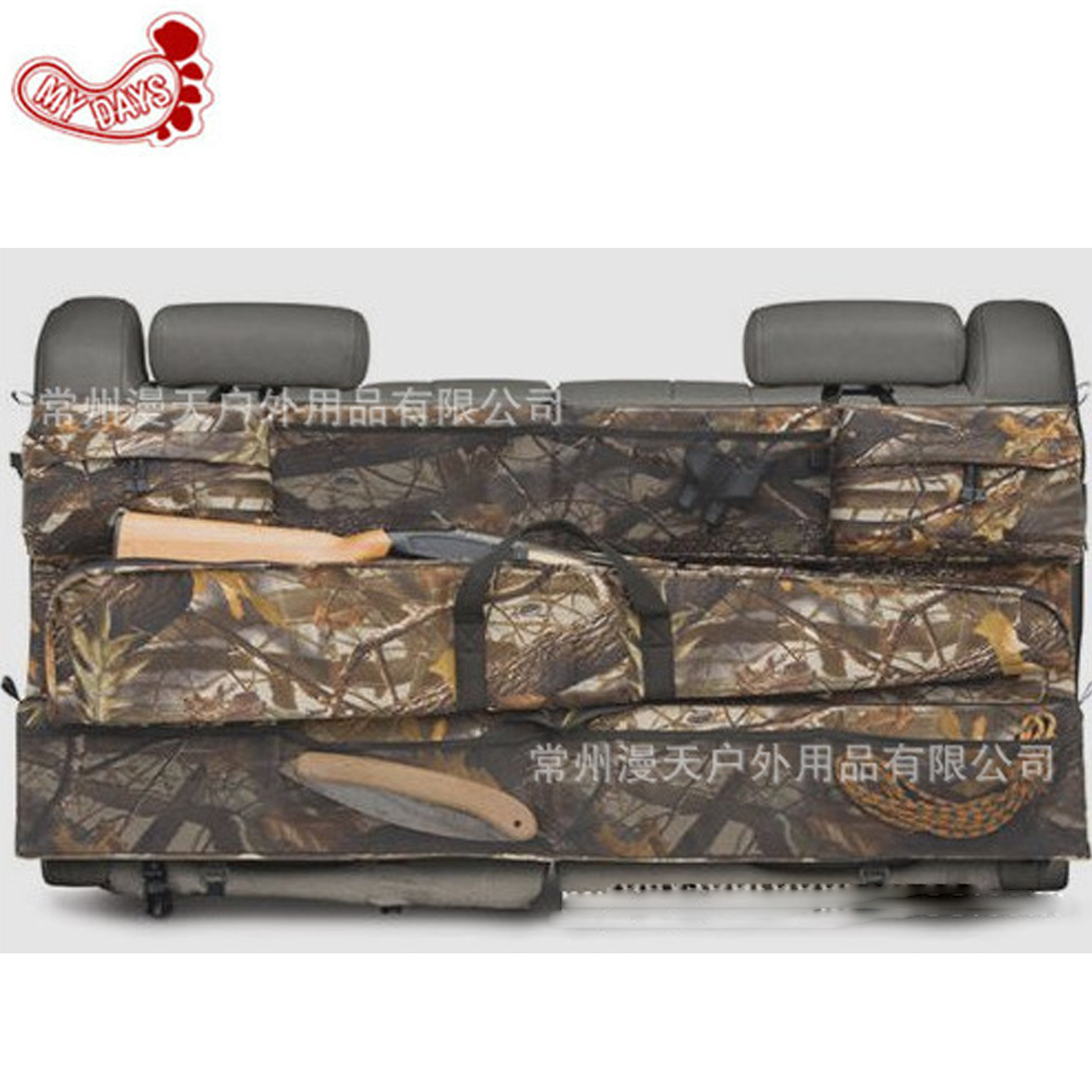 MY DAYS reed camouflage Car gun case bag outdoor SUV seat back gun rack multi pockets truck gun sling hunting car carrier partol black car roof rack cross bars roof luggage carrier cargo boxes bike rack 45kg 100lbs for honda pilot 2013 2014 2015
