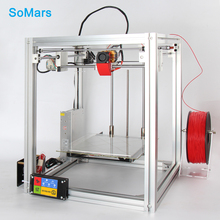 SoMars NEW 2017 S5 Kit 3D Printer DIY with Heatbed Hot Bed Metal Big 3d-printer Touch Screen Auto Leveling Large Print Size