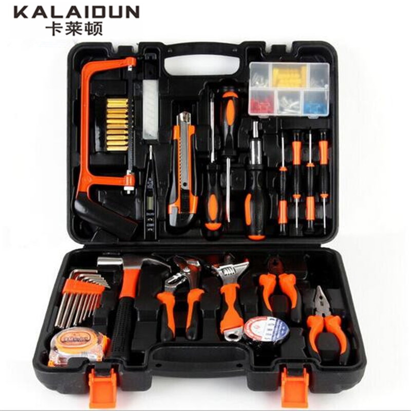 kalaidun 100pcs tool combination multi functional home maintenance tools wrench hardware hand. Black Bedroom Furniture Sets. Home Design Ideas