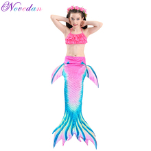 Girls Cosplay Custume The Little Mermaid Tail For Kids Princess Ariel Children Classic Halloween Costumes Swimsuit