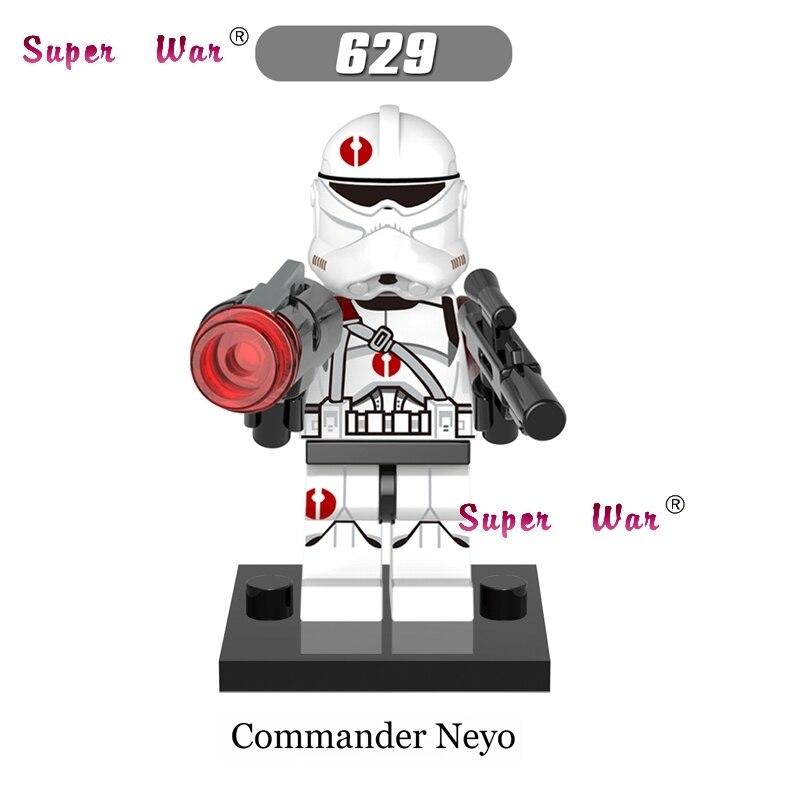 1PCS star wars super heroes Commander Neyo ARC Clone trooper building blocks models bricks toys for children kits