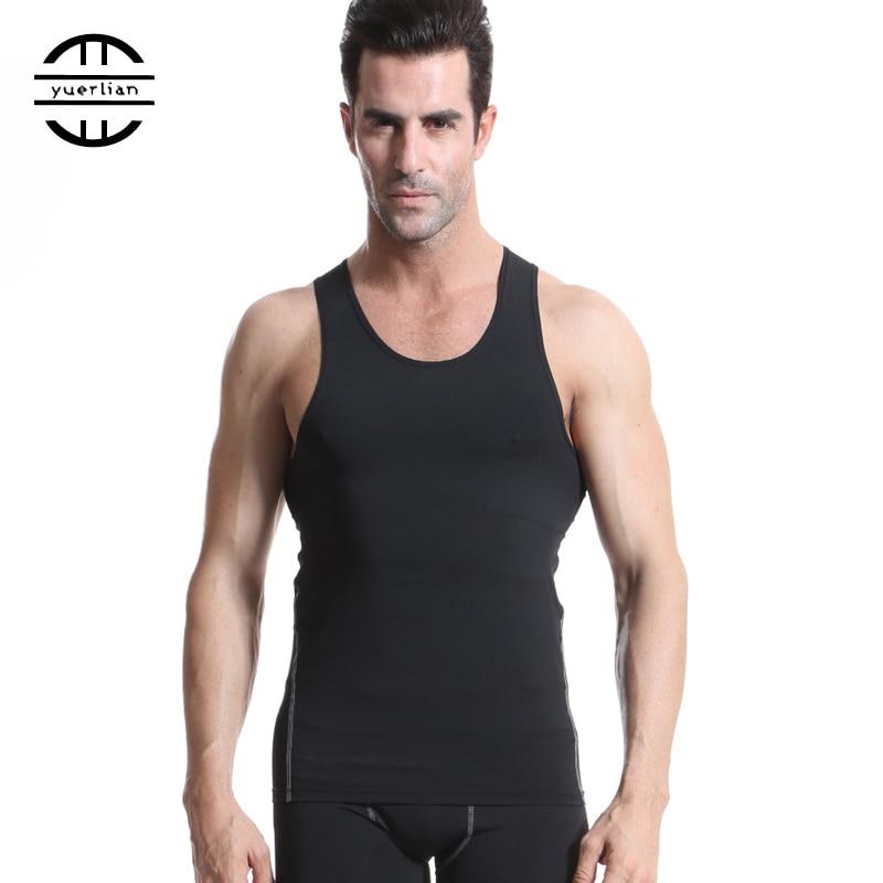 8af382fced YEL Men Compression Vest Tops Stringer Bodybuilding Fitness Men s GYM Vest  Tees Undershirts Male Shirts Sports Running Vest 1001