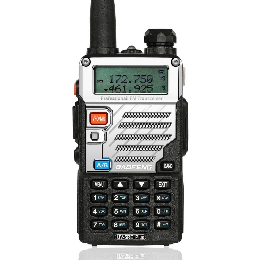 Baofeng UV-5RE Plus Portable Radio Two Way Radio Station Walkie Talkie 5W Vhf Uhf Dual Band Communicator Handheld Transceiver