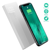 100% Top 20000mAh Power Bank Dual USB Poverbank Charging External Battery Qi Wireless Fast Charger Powerbank for iPhone X 8