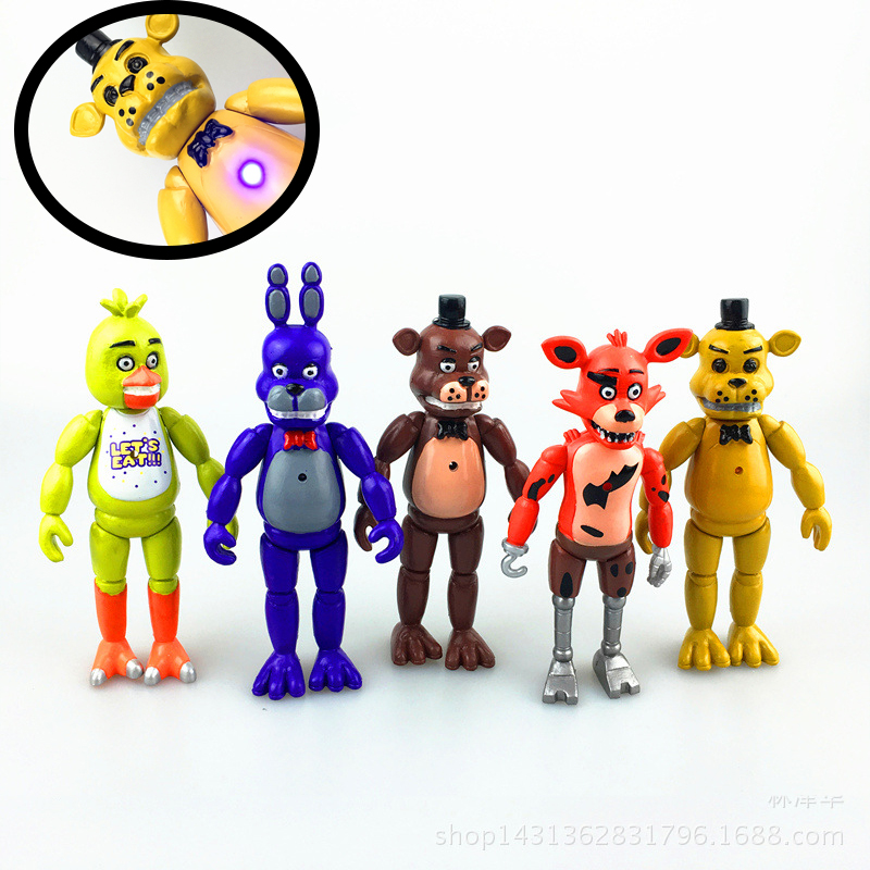 5Pcs/set 5.5 Inch Five Nights At Freddy's PVC Action