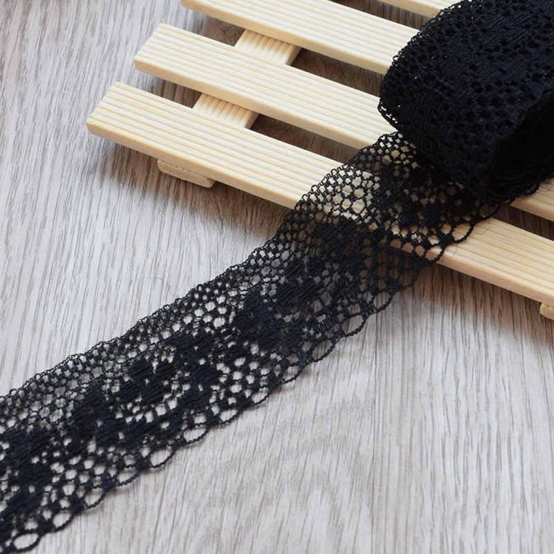 4Cm Lebar Putih Dekorasi Lace Potong Kain Pernikahan Ulang Tahun Natal Barang Kerajinan DIY Bordir dan Rok Intim Aksesoris