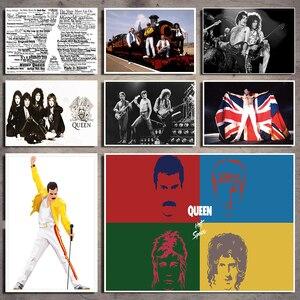 Рок-Группа queen White Kraft бумажная настенная бумага, Декор для дома, рисование core настенные наклейки 42*30 см