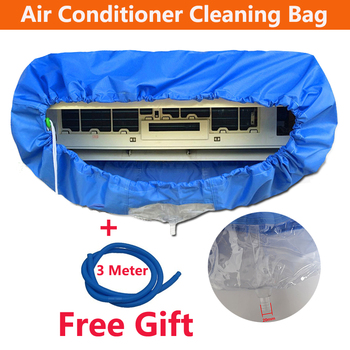 Blue Wall Mounted Air Conditioning Cleaning Bag Split Conditioner cleaning Washing Cover Waterproof Protector for 1p/2p/3p - discount item  32% OFF Household Merchandises