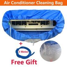 Tampa de ar condicionado fixa na parede, azul, saco de limpeza, ar condicionado, limpeza, lavar, protetor à prova d água para 1p/2p/3p