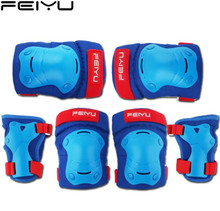 купить AS FISH Skateboard Bicycle Helmet Knee Support Elbow Hip Pad Protective Gear Set for Kids Roller Ice Skating Cycling Children дешево