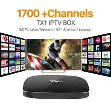 Арабский IPTV Smart Android TV Box с 1 Год Бесплатно IUDTV Подписки 1700 Каналов Европейский Италия ВЕЛИКОБРИТАНИЯ Счет IPTV Сми плеер