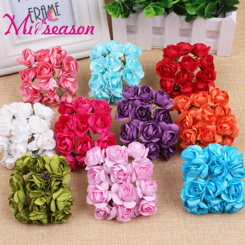 144 pcsbag paper rhododendron handmade artificial flower wedding 144 pcsbag paper rhododendron handmade artificial flower wedding candy decoration diy wreath gift box scrapbooking craft peony mightylinksfo