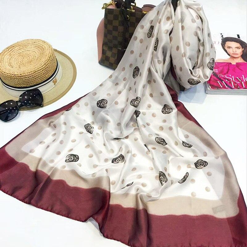 L-azyseason Marque Nouvelles Femmes Écharpe De Mode Lady Tout-Allumette  Impression Foulards de Soie Châles Wraps Pashmina Foulard Bandana Hijab  180X90 cmUSD ... d18cad42759