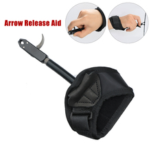 Outdoor Archery Caliper Release Aid Compound Bow Strap Shooting Pro Arrow Trigger Wristband  Black Color