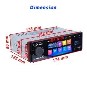 """Image 2 - Podofo rádio automotivo, rádio automotivo com tela sensível ao toque de 4 """", bluetooth, som estéreo, mp5, usb, tf, exibição de temperatura, mãos livres in dash"""