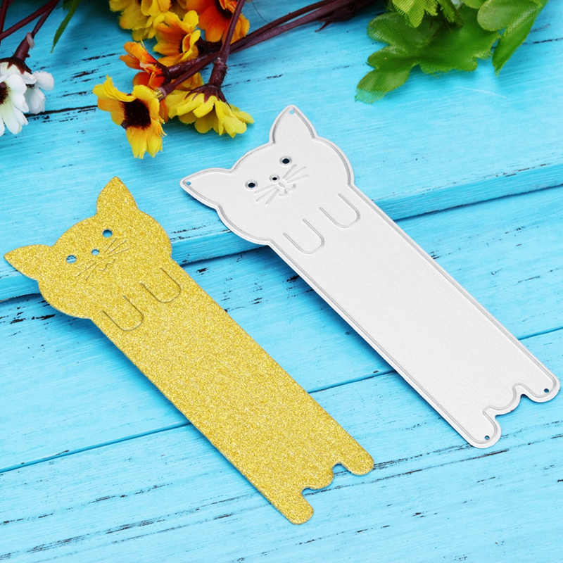 Long Cat Bookmark Metal Cutting Dies Stencils For DIY Scrapbooking Decorative Embossing Suit Paper Card Die Cutting Template
