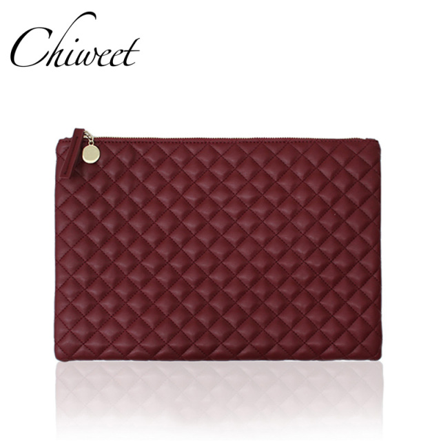 quilt female large ladies classic plaid quilted luxury clutch casual item envelope brand handbags purses women solid