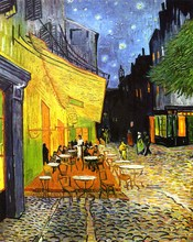 Canvas Art Picture Print Painting Famous Van Gogh Oil Reproduction Cafe Terrace at Night Wall Home Decor