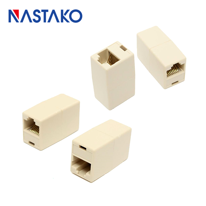 NASTAKO 5/10PCS Cat5 Cat5e RJ45 Connector RJ45 Extension Coupler Cat 5 Ethernet UTP Cable Network LAN Coupler Adapter Plugs rj45 female to female network ethernet lan connect adapter coupler extender ethermet cable connector black