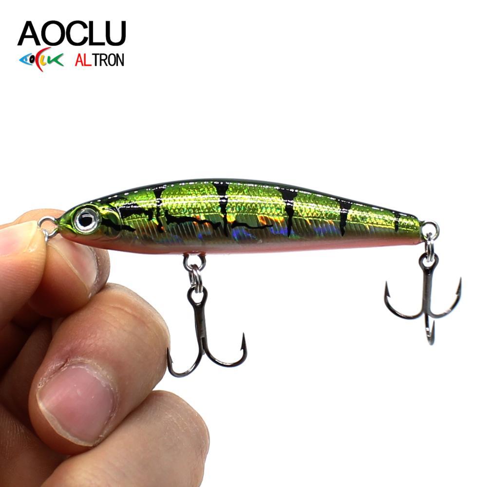 AOCLU Lure Salt Pencil-Stick Wobbler Hard-Bait Fishing Water-Sinking Small Deepwater