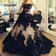 XGGandXRR Ball Gown Black Wedding Dress 2019 Bridal Gown
