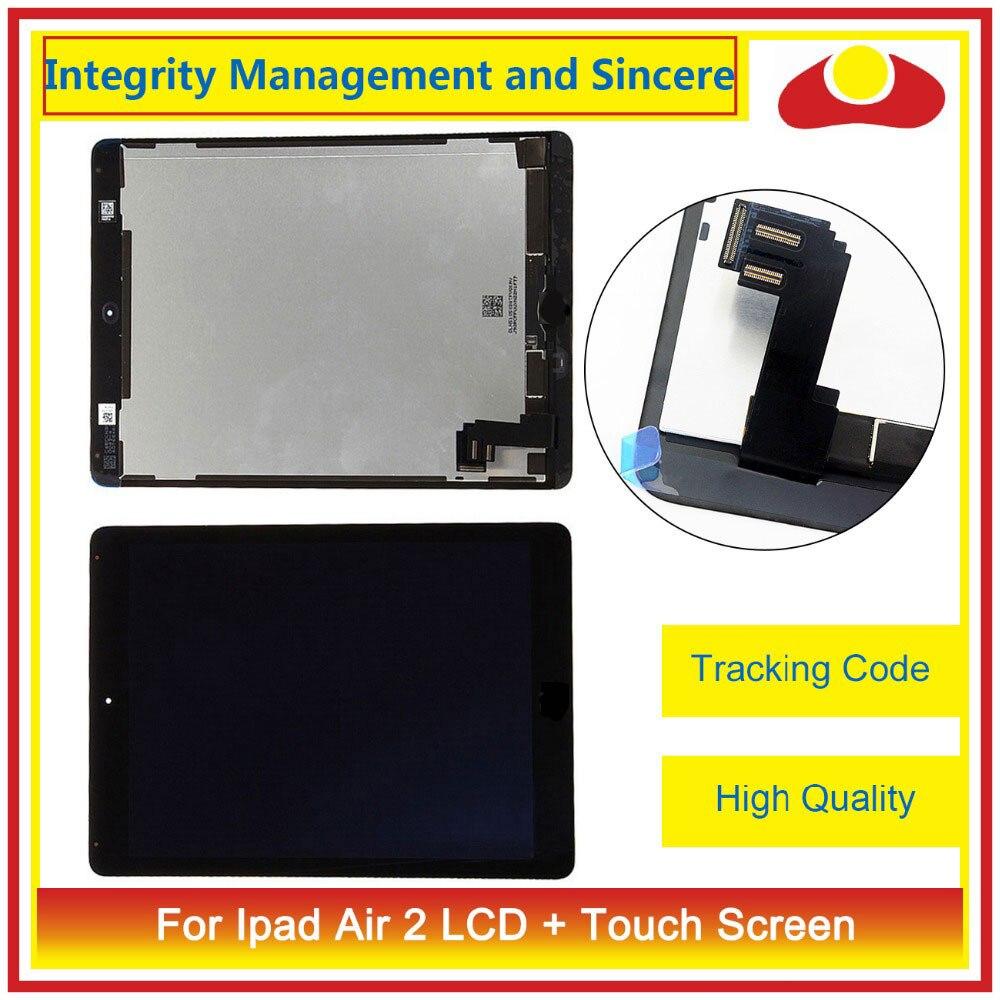 9.7 Pour ipad Air 2 2nd ipad 6 A1567 A1566 Plein Écran LCD Écran Tactile Digitizer Assemblée Complet Lentille En Verre panneau + de Suivi