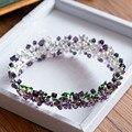 Top Qualidade Barroco Roxo Zircão Círculo De Noiva Coroas Tiara de Cristal Hairbands Casamento Vestido de Acessórios Para o Cabelo