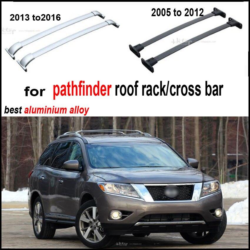 Barres de toit rail de toit barre stabilisatrice faisceau pour Nissan Pathfinder 2005-2016, épaissir alliage d'aluminium, qualité supérieure, faible profit pour promotion