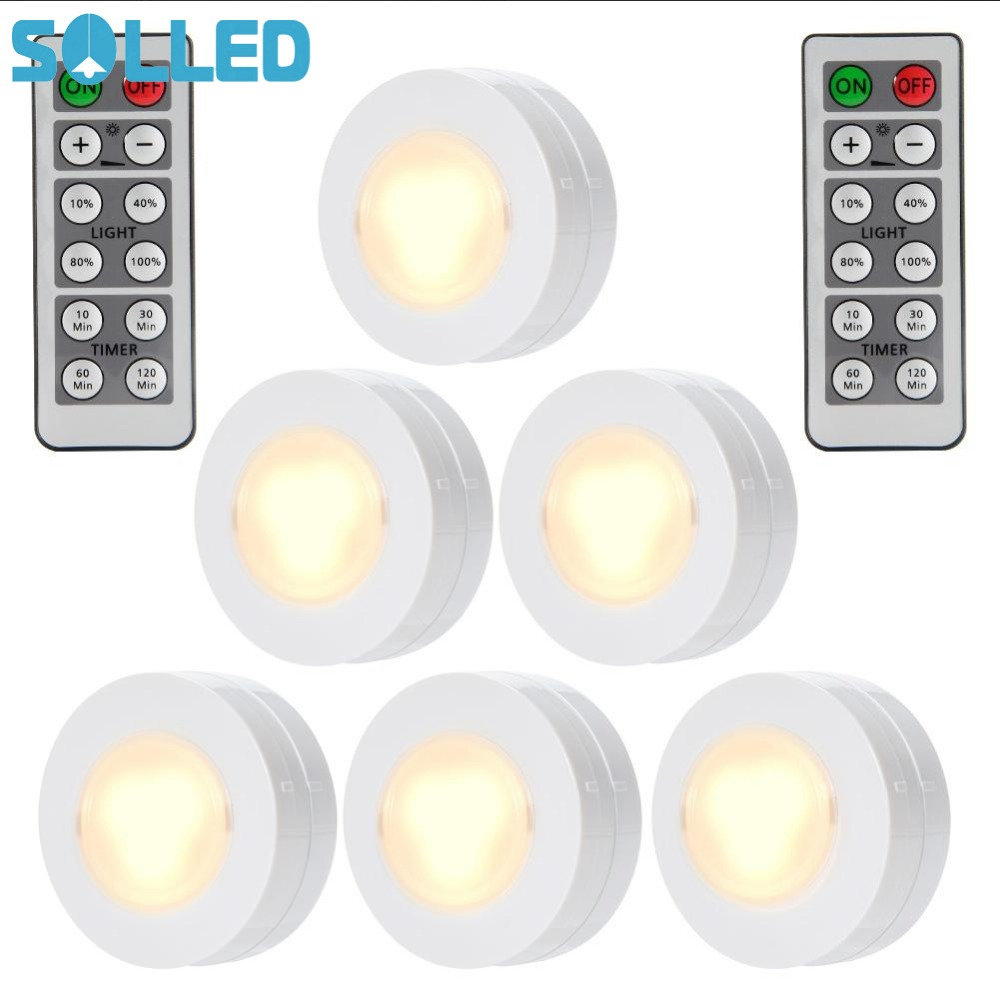 Solled 6 Packed Led Night Light Remote Controlled Closet