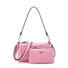 New style 2016 women handbag PU Leather fashion bags women messenger bags Shoulder Bag ladies composite bags 4 colors YM5003