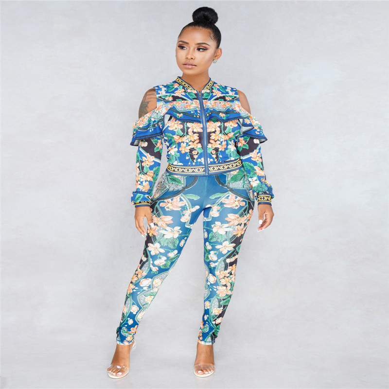 African Print Dresses For Women Dashiki Traditional African Two Piece Set Print Tracksuit Bazin Tops Pants Clothing Female Suit (1)
