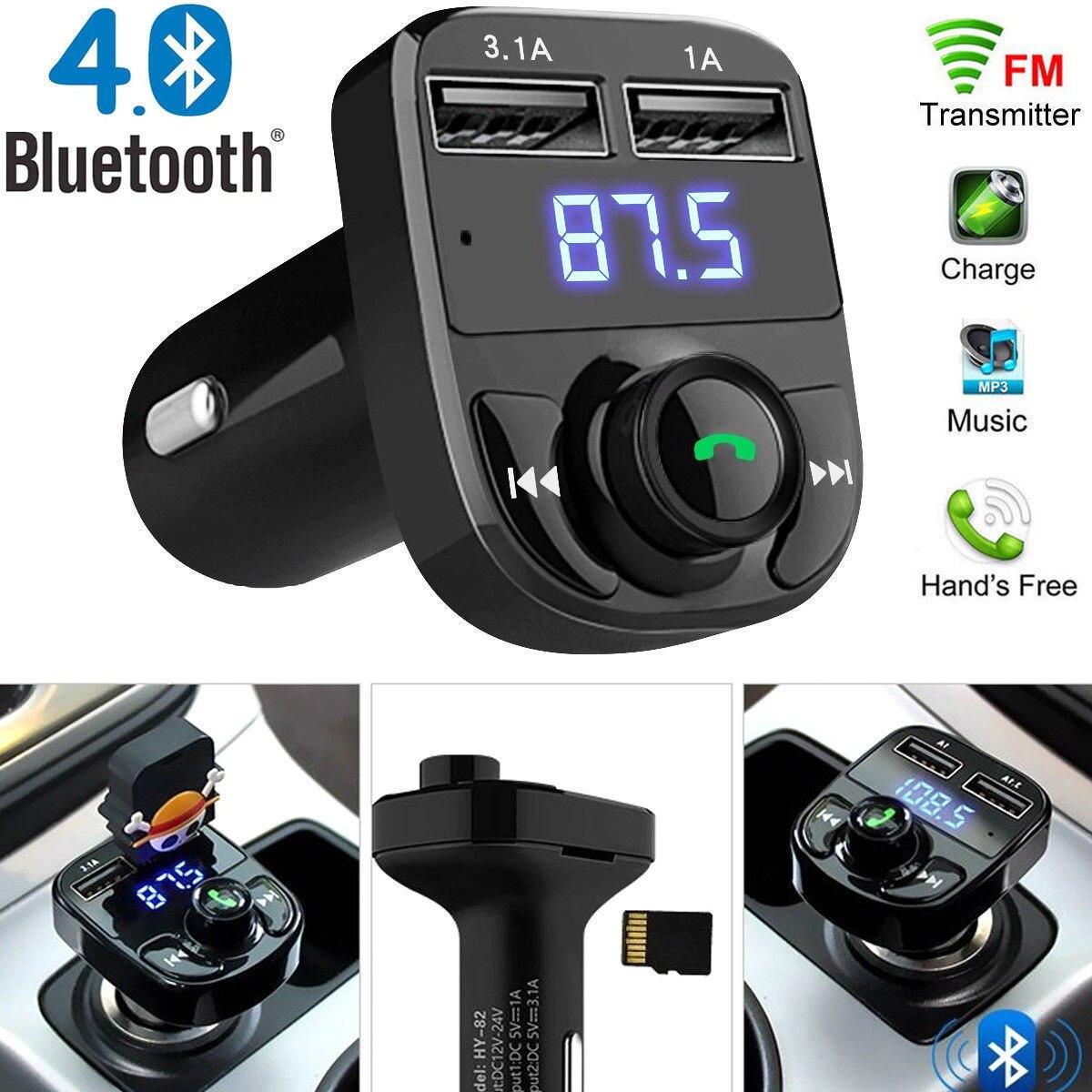 FM адаптер fm-передатчик Универсальный Автомобильный fm-передатчик музыка напряжение обнаружение беспроводной bluetooth-приемник радио адаптер