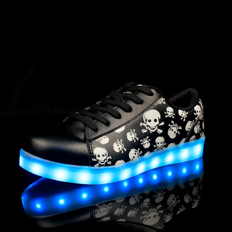 7 Colors in 1 Shining LED Shoes LED Light Up Shoes for Women Adults Colorful Luminous Shoes