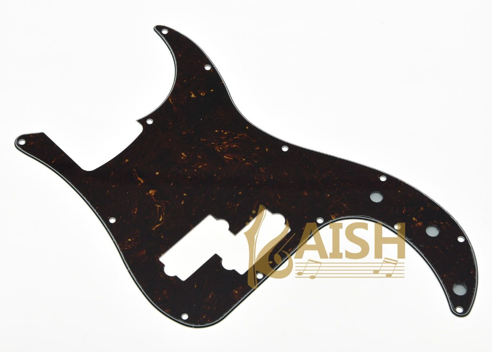 USA Spec Precision Bass P Bass Pickguard Scrach Plate Dark Brown Tortoise 3 Ply hot 5x cool dark red flame pattern 3 ply pickguard scratch plate for p bass guitar part