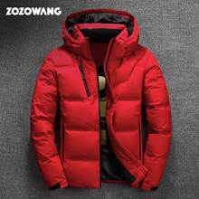 ZOZOWANG High Quality White Duck Thick Down Jacket men coat