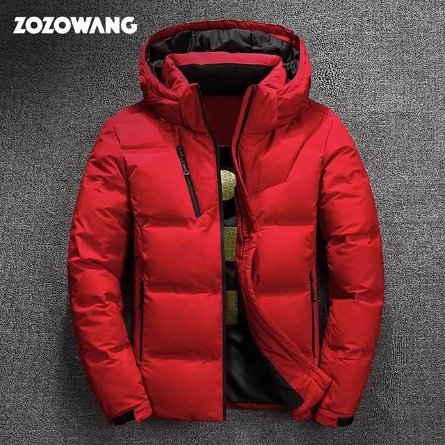 ZOZOWANG Hohe Qualität Weiße Ente Dicke Daunen Jacke männer mantel Schnee parkas männlichen Warme Marke Kleidung winter Unten Jacke Oberbekleidung