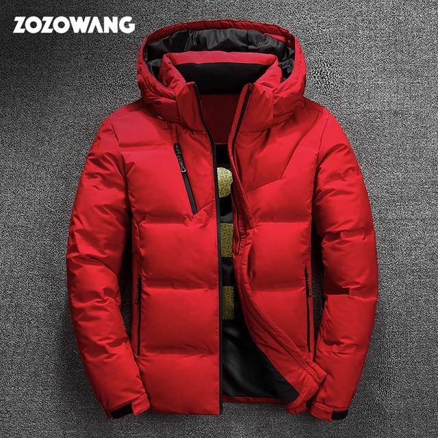 ZOZOWANG/высокое качество, белый пуховик на утином пуху, мужская куртка, зимние парки, Мужская теплая брендовая одежда, зимний пуховик, верхняя одежда