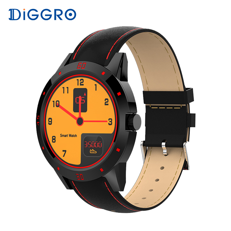 Diggro DI02 SmartWatch Heart Rate Monitor Two Side Straps Bluetooth Phone Fitness Tracker Smart Watch for Android IOS PK K88h
